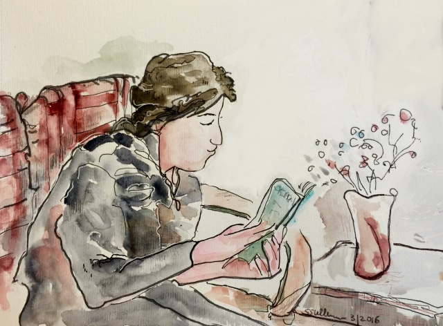 Sketch of a Reader by Sarah Sullivan