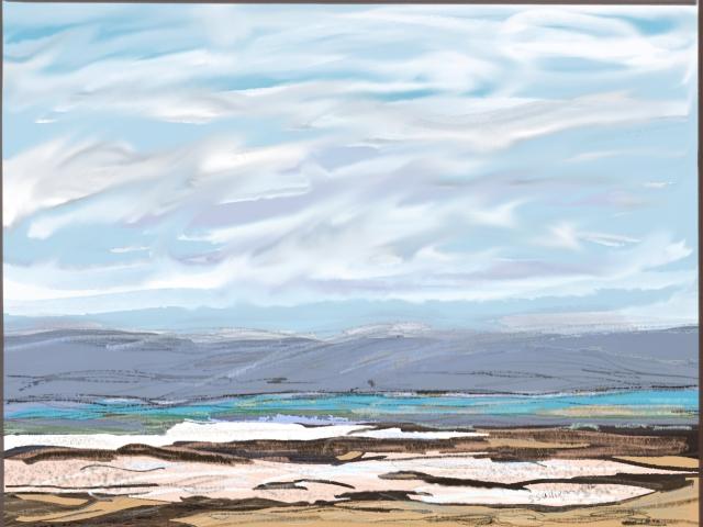 Salt Deposits at the Dead Sea