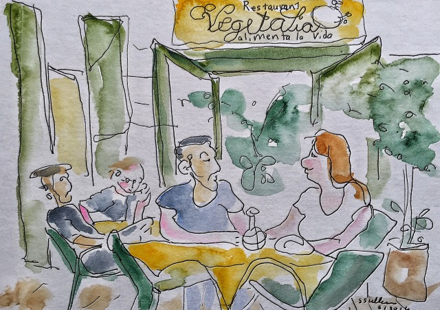 Lunch at a Vegetarian Restaurant, Barcelona