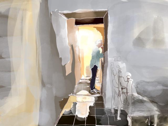 Backlit Figure