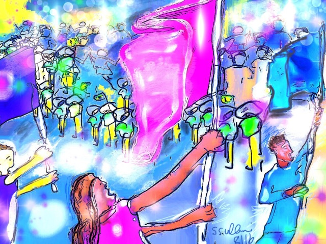 Sketch of the Olympic Opening Ceremony by Sarah Sullivan