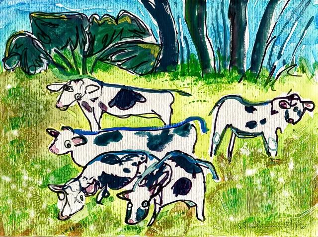 Gouche Cows