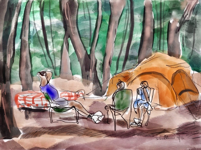 Relaxing at a Yosemite Campsite
