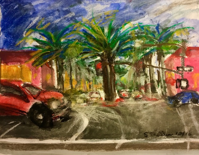 Sketch of road by Sarah Sullivan