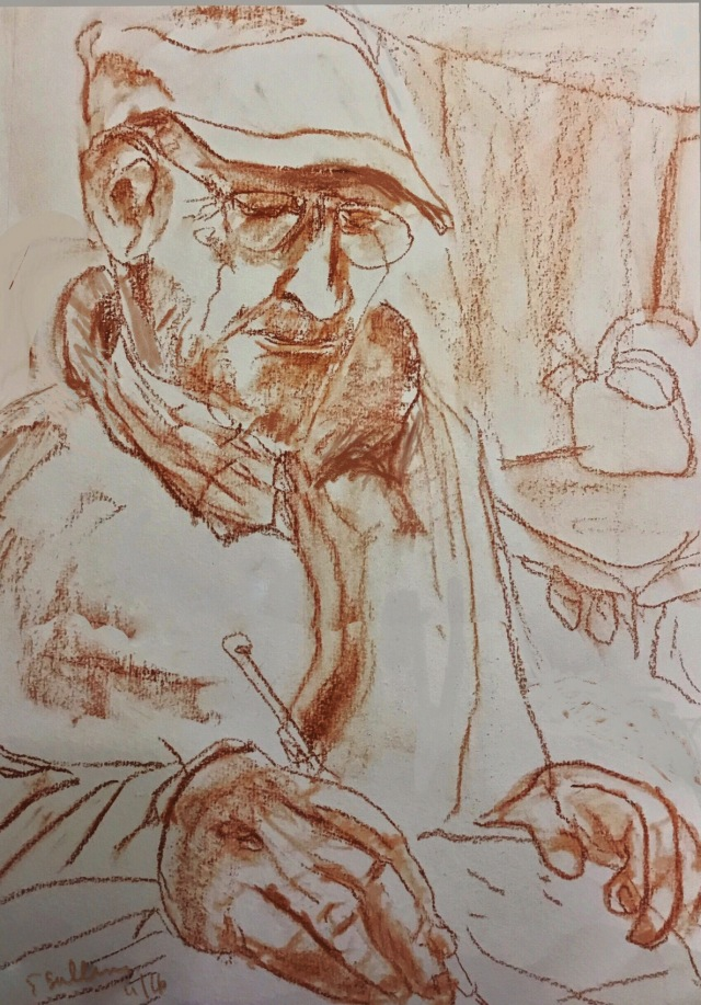 Sketch of a man by Sarah Sullivan