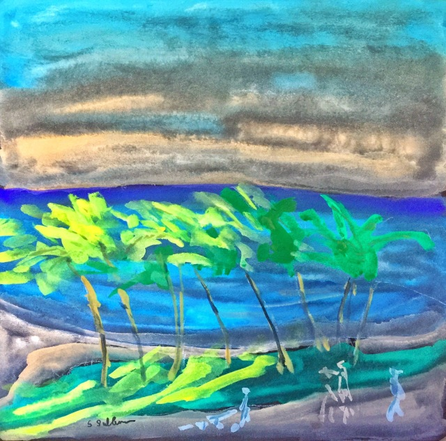 Sketch of a Waikiki Sunrise by Sarah Sullivan