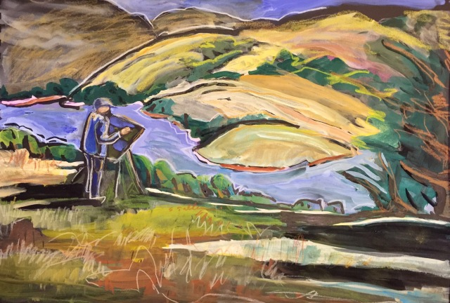 Annie, Painting Above Inverness by Sarah Sullivan