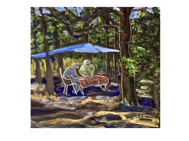 Under a Blue Tarp by Sarah Sullivan