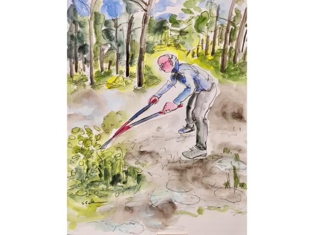 Cutting Away the Scrub Oak by Sarah Sullivan