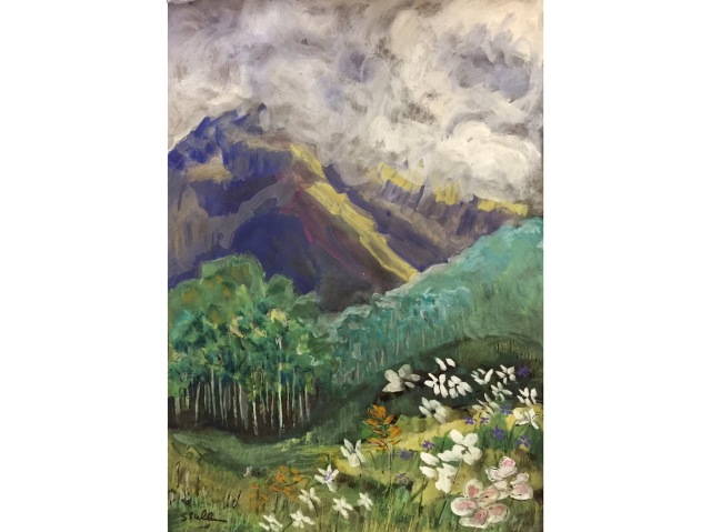 Sketch of San Juan Mountains in July by Sarah Sullivan