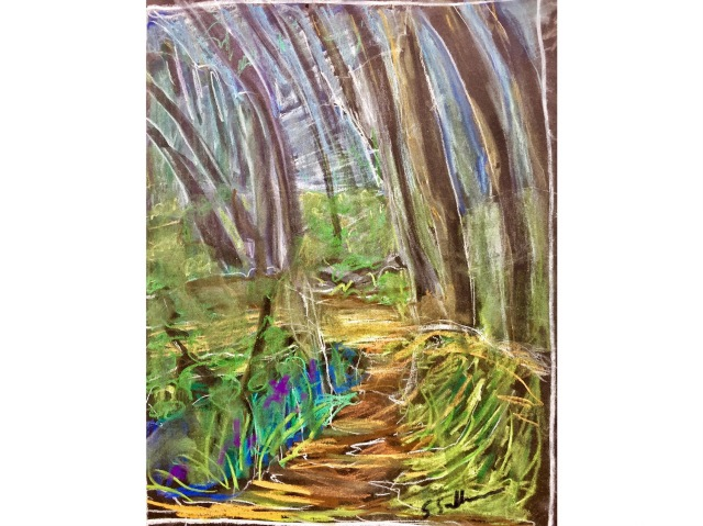 A Preliminary Sketch for a Forest Painting by Sarah Sullivan