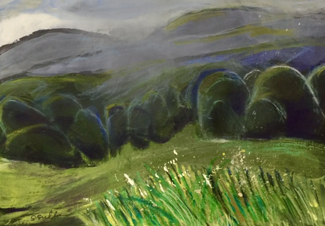 Sketch of a Rainy Meadow by Sarah Sullivan
