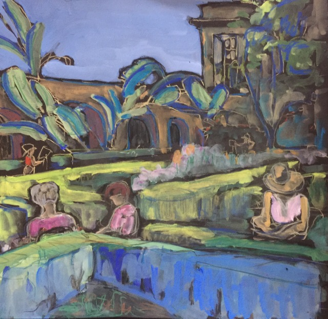 Among the Hedges in Alcazar Park by Sarah Pullivan