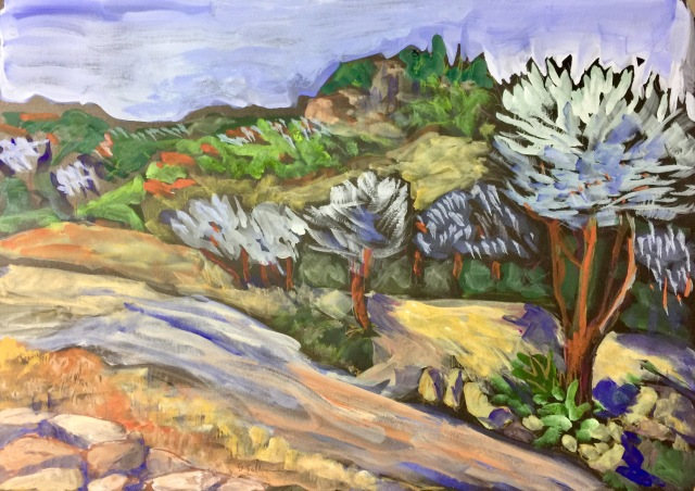 Sketch of Hillside Near Rancho Bernardo by Sarah Sullivan