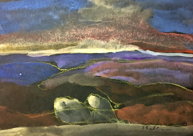 Sketch of the Sunset from South Fortuna Mountain by Sarah Sullivan