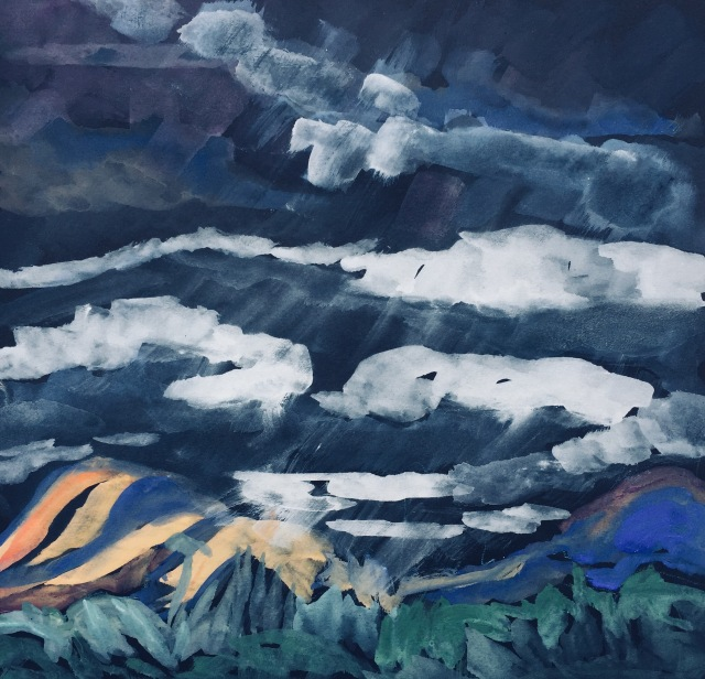Sketch of A Rare October Rain by Sarah Sullivan