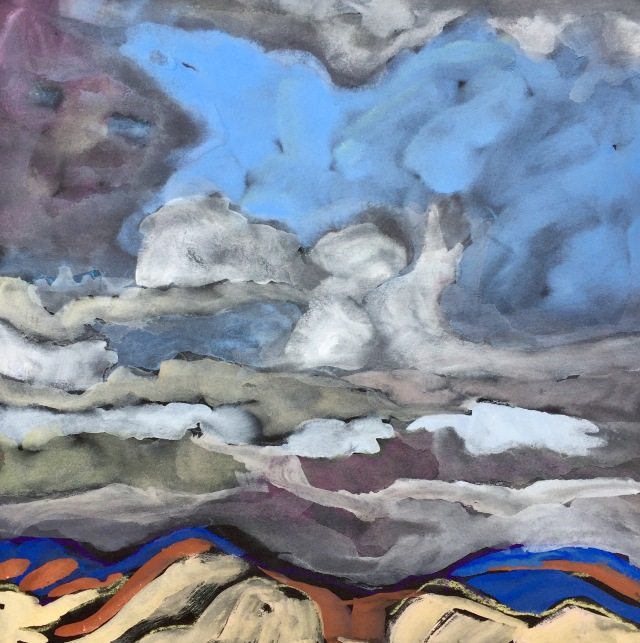 Sketch of October Clouds Over San Diego by Sarah Sullivan