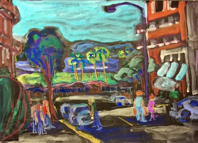 Sketch by Sarah Sullivan of Fir and Date Streets