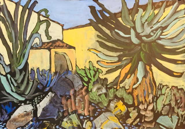Sketch of plants in the Mediterranean Garden at SDSU by Sarah Sullivan