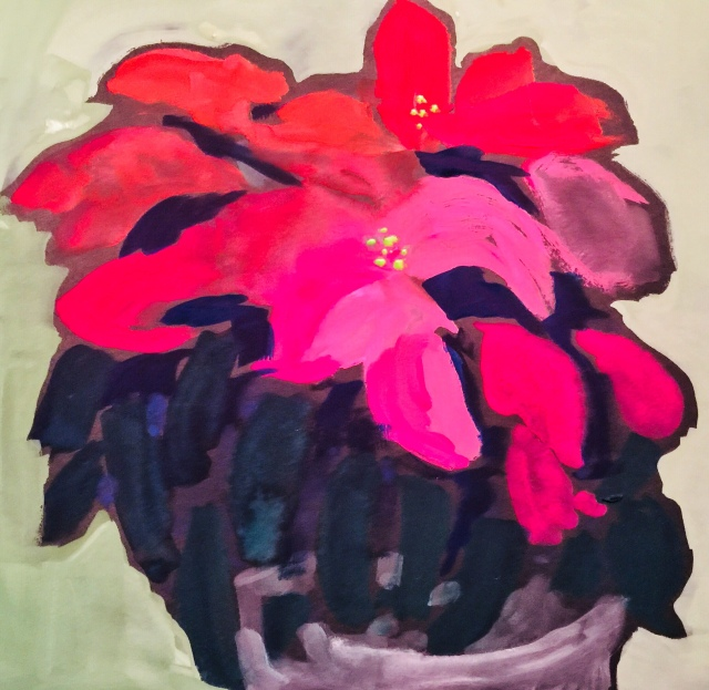 Sketch by Sarah Sullivan of Poinsettias