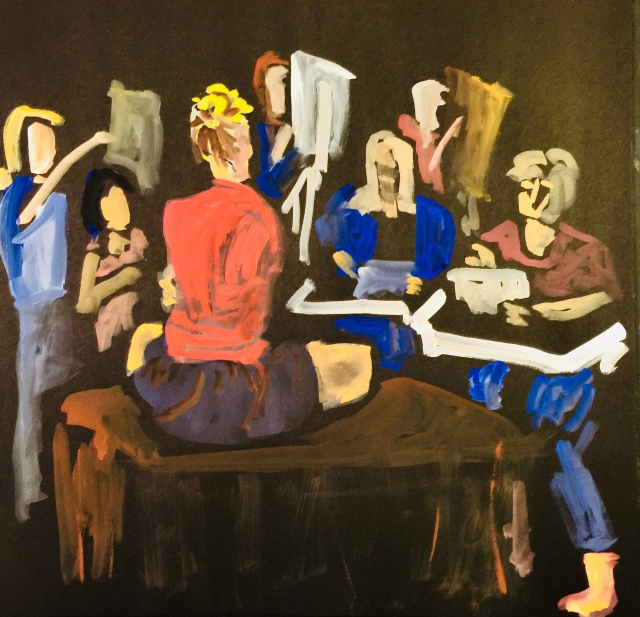 Sketch of a Painting Group by Sarah Sullivan