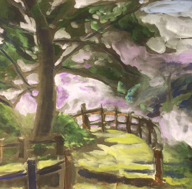 Sketch of Fog at Torrey Pines by Sarah Sullivan