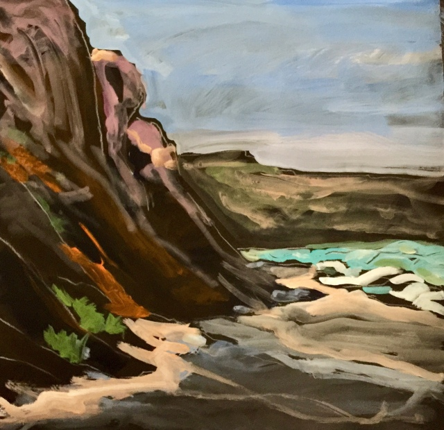 Sketch by Sarah Sullivan of Torrey Pines on a March Morning