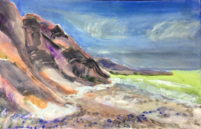 Sketch by Sarah Sullivan of a Second March Morning at Torrey Pines