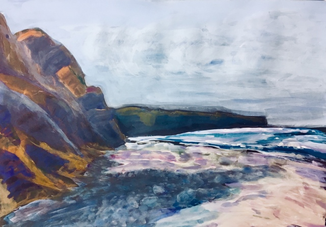 Painting by Sarah Sullivan of a Seascape
