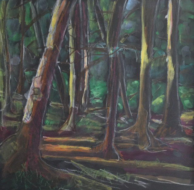 Sketch by Sarah Sullivan of a Woods Near Værløse, Denmark