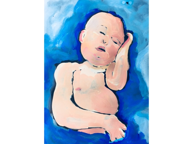 Sketch of a baby by Sarah Sullivan