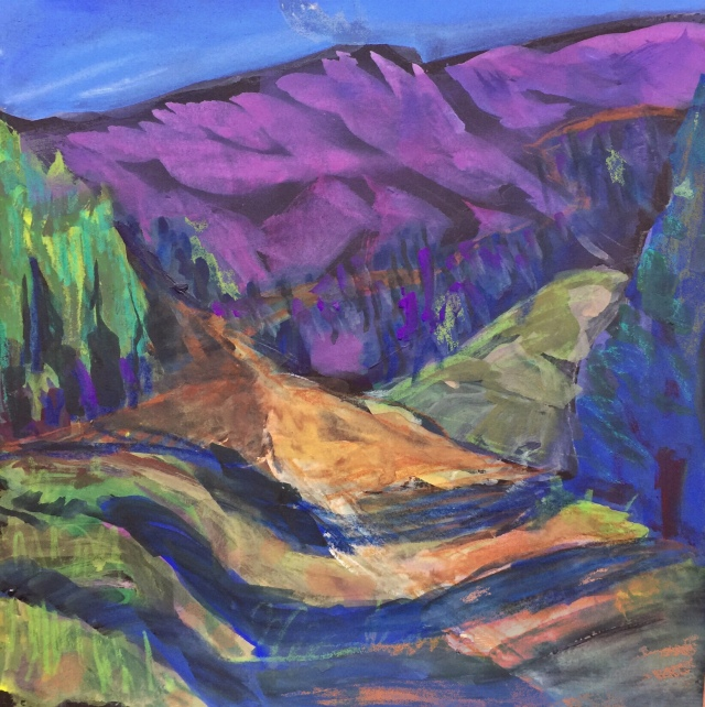 Sketch by Sarah Sullivan of a San Juan Mountain Path