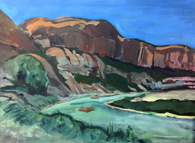 Sketch of the Colorado River by Sarah Sullivan