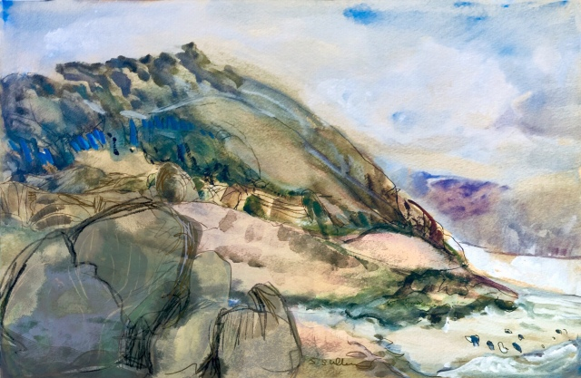 Sketch by Sarah Sullivan of Torrey Pines