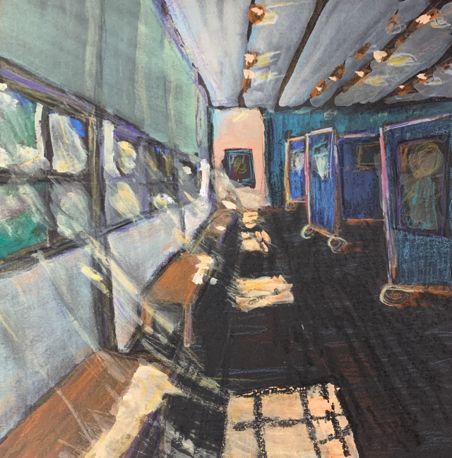 Sketch of the SDWS Gallery by Sarah SUllivan