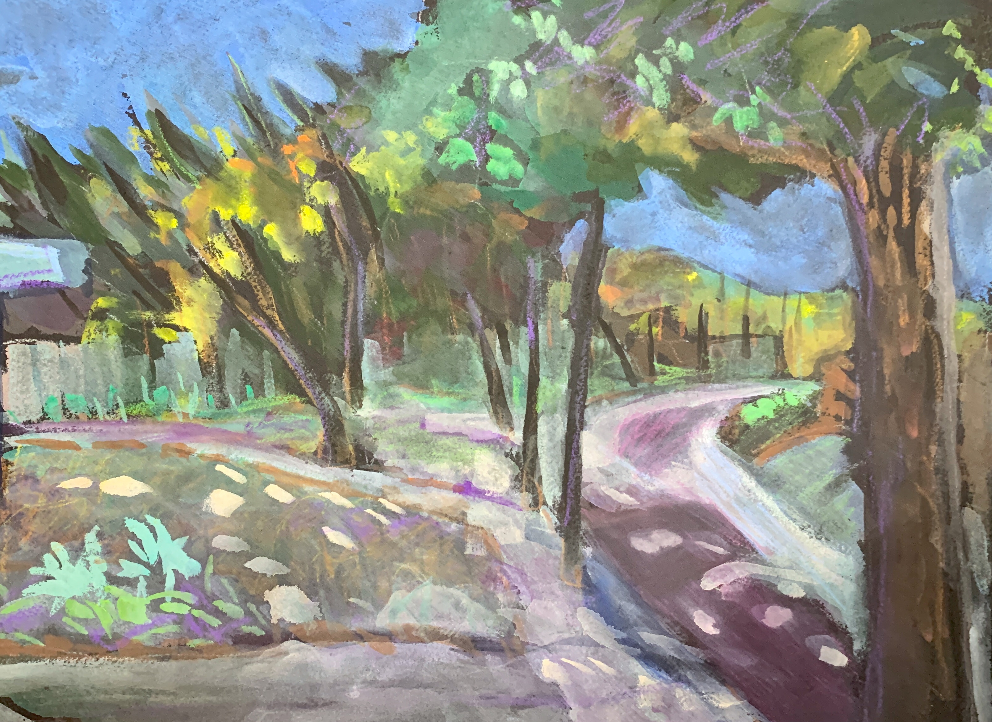 Sketch by Sarah Sullivan of a Street in San Diego