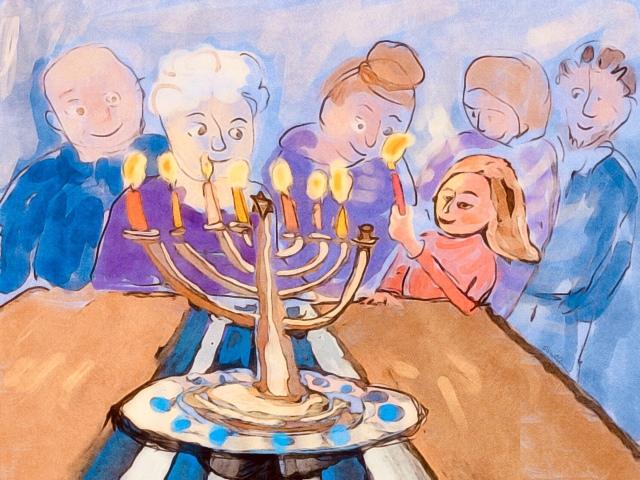 Hanukah Card by Sarah Sullivan